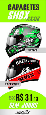 CAPACETE SHOX AXXIS RACE CORP